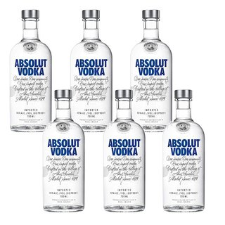 Absolut Vodka 6er Pack 6 x 0,7 L